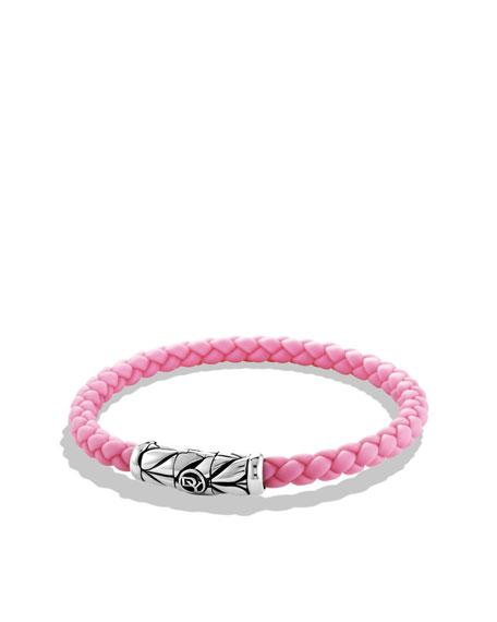 Weave Bracelet, Pink Rubber, 5.5mm