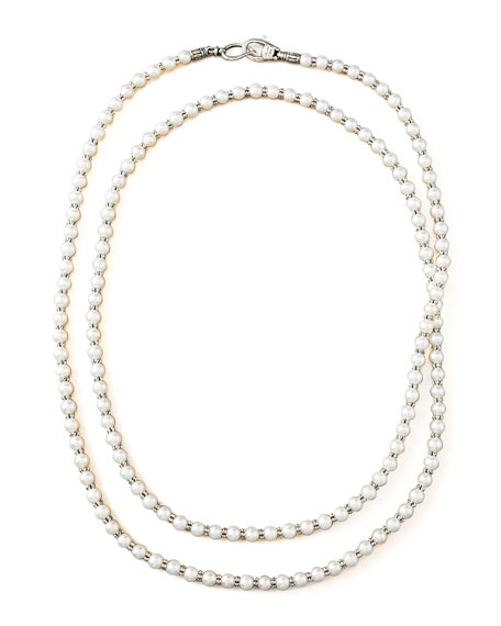 "4-4.5mm Pearl Necklace, 36""L"