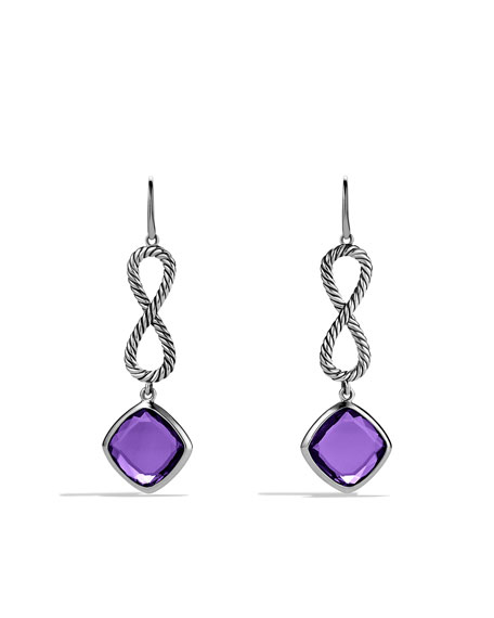 Confetti Figure-Eight Drop Earrings with Amethyst
