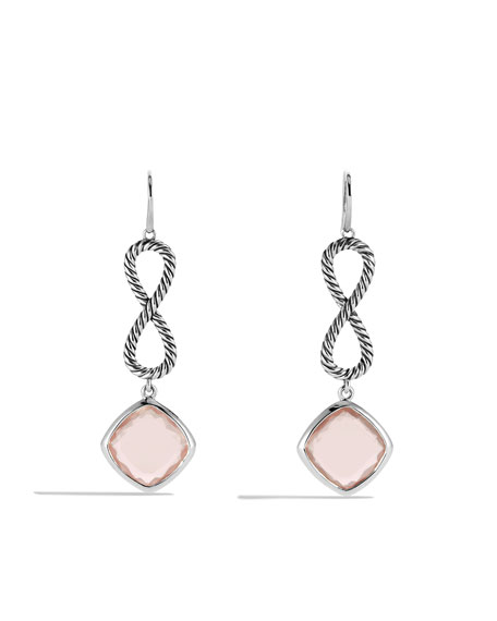 Confetti Figure-Eight Drop Earrings with Rose Quartz