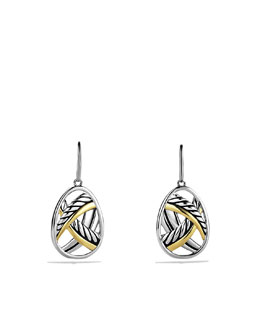 David Yurman Papyrus Earrings with Gold