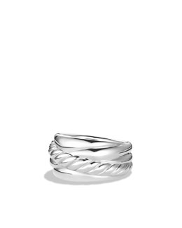 David Yurman Small Wide Crossover Ring