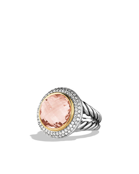 Cerise Ring with Morganite, Diamonds, and Rose Gold