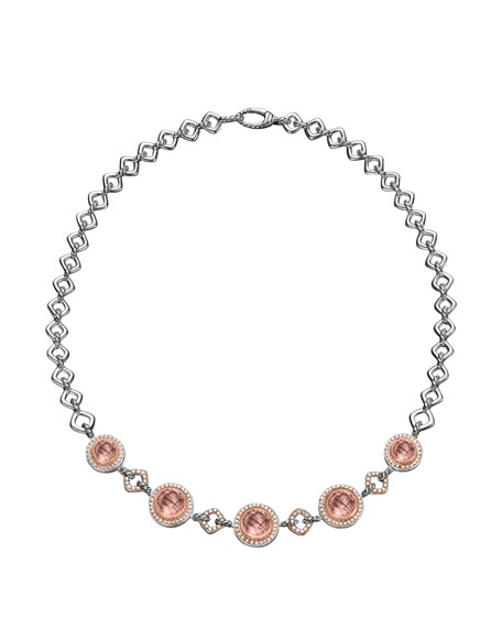 Cerise Statement Necklace, Pearls