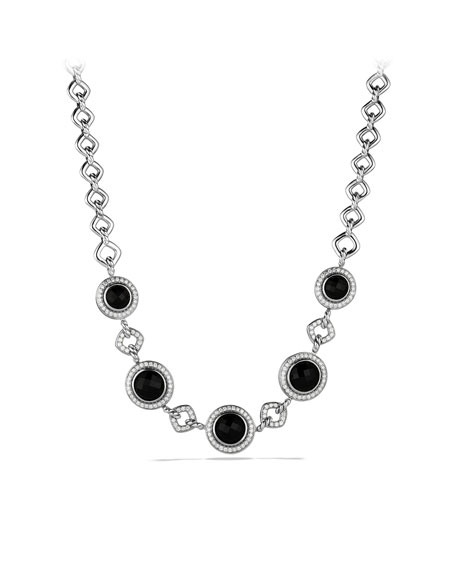 Cerise Necklace with Black Onyx and Diamonds