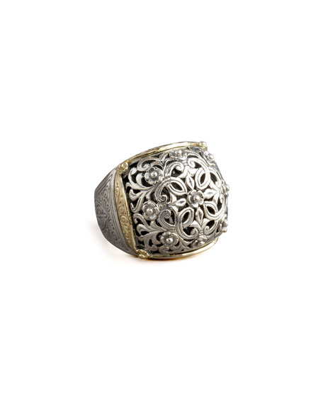Silver & Gold Dome Ring