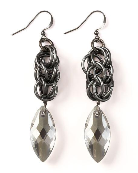 Braided Chain Drop Earrings