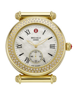 MICHELE Caber Diamond-Bezel Watch Head
