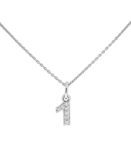 "Diamond Number Necklace, ""1"""