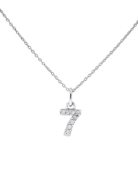 "Diamond Number Necklace, ""7"""