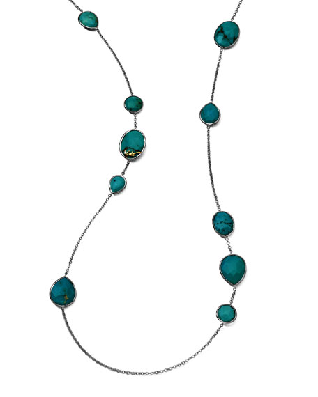 "Turquoise Gelato Necklace, 43"""