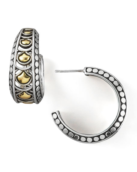 John Hardy Naga Wide Hoop Earrings