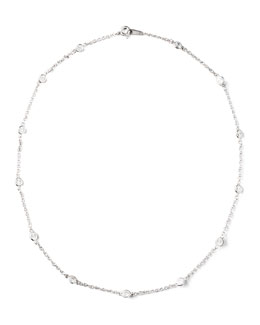 Fantasia by DeSerio Cubic Zirconia Station Necklace