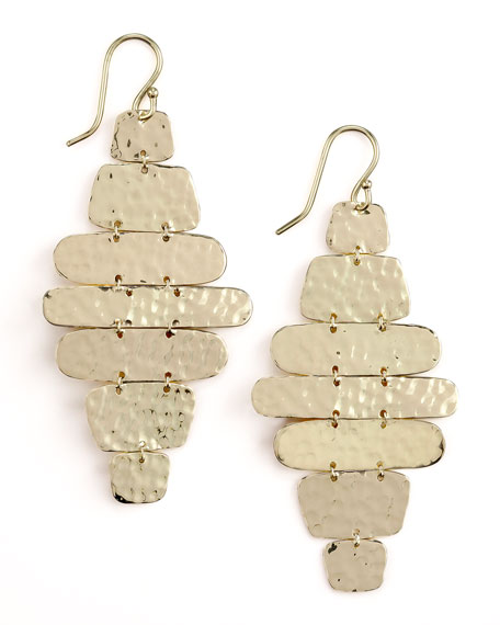 Hammered Cascade Earrings