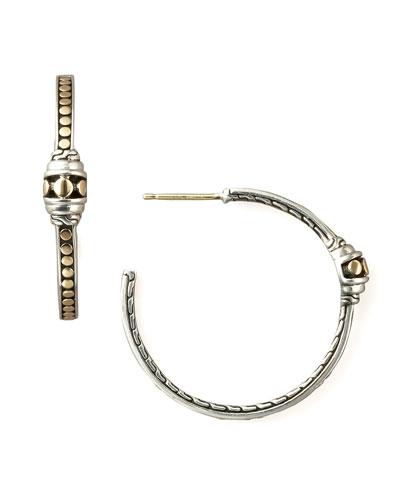 Dot Hoop Earrings, Medium