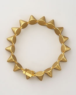 Eddie Borgo Small Cone Bracelet, Yellow Gold