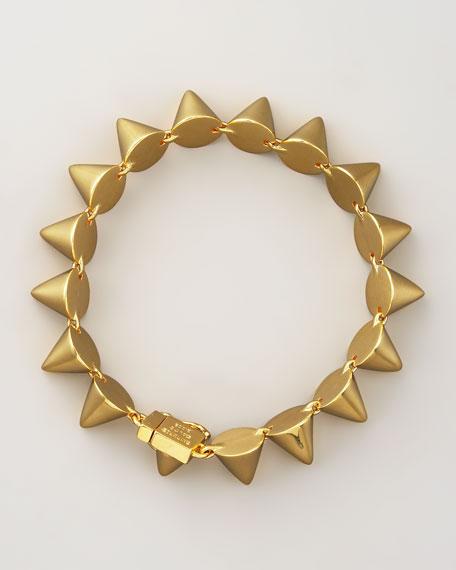 Eddie Borgo Small Cone Bracelet, Yellow Gold