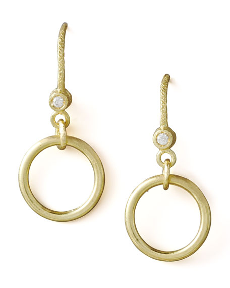 Ring-Drop Diamond Earrings