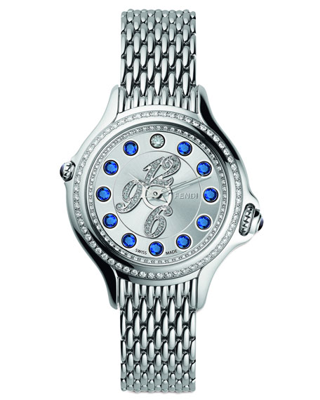Pave Diamond Crazy Carats Sapphire & Diamond Watch, Blue/Pink/White