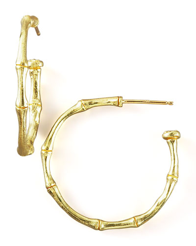 Dominique Cohen Bamboo Hoop Earrings