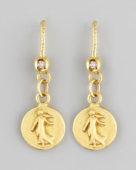 Dominique CohenPetite Goddess Coin Drop Earrings