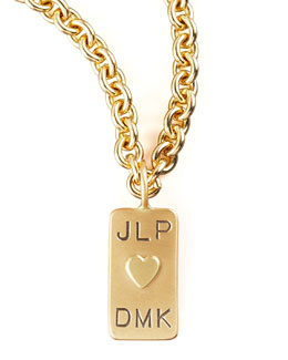 Heather Moore Mini Initial-Tag Heart Charm
