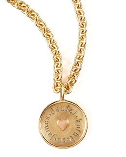 Heather Moore Round Name Charm