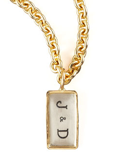 Heather Moore Mini Initial ID Tag
