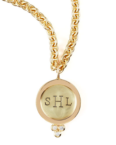 Heather Moore Round Initial Charm