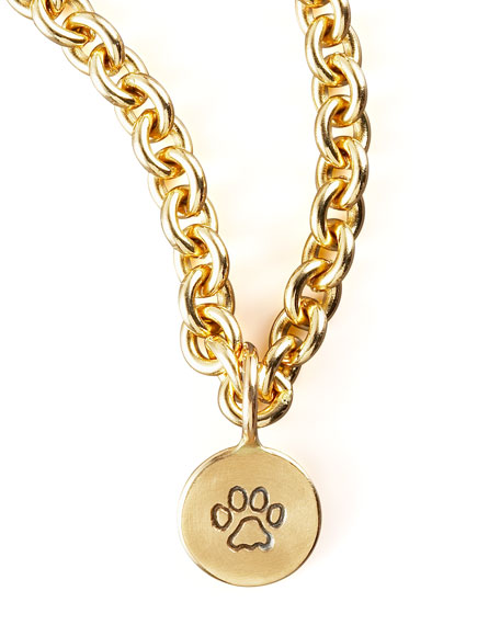 GOLD PAW STAMP CHARM