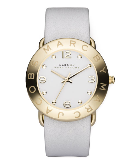 Round Watch, White
