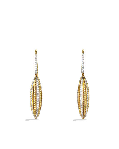 David Yurman Lantana Drop Earrings with Diamonds in Gold