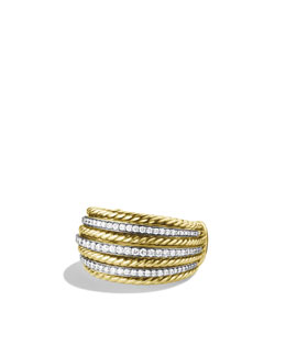 David Yurman Lantana Small Dome Ring with Diamonds in Gold