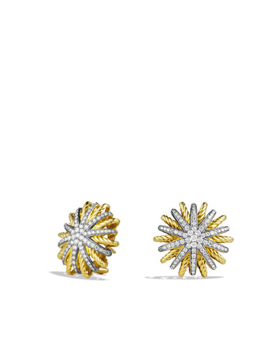 David Yurman Starburst Earrings with Diamonds in Gold