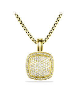 David Yurman Albion Pendant with Diamonds in Gold