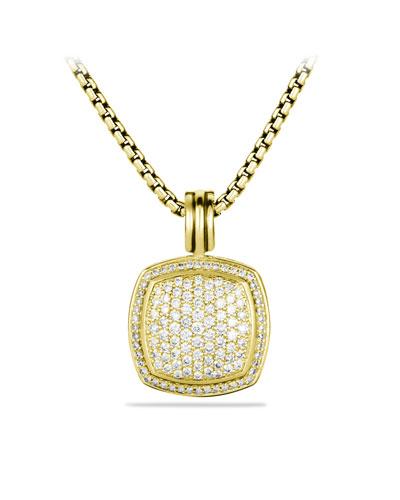 David Yurman Albion Pendant with Diamonds in Gold