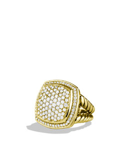 David Yurman Albion Ring with Diamonds in Gold