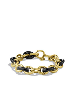 David Yurman Oval Link Bracelet, Black Ceramic