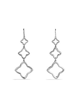 David Yurman Quatrefoil Three-Drop Earrings