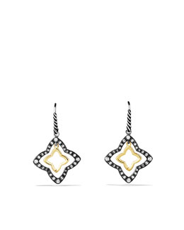 David Yurman Quatrefoil Drop Earrings with Diamonds