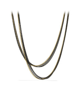 David Yurman Four-Row Chain Necklace in Gold