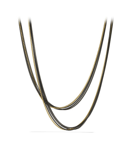Four-Row Chain Necklace in Gold
