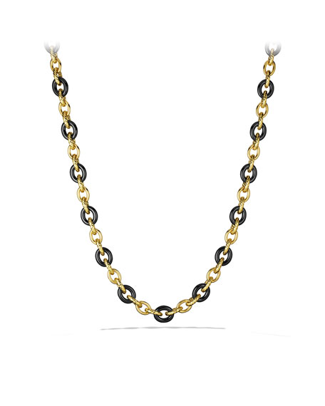 Oval Large Link Necklace in Gold