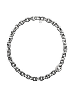 David Yurman Oval Large Link Necklace with Diamonds