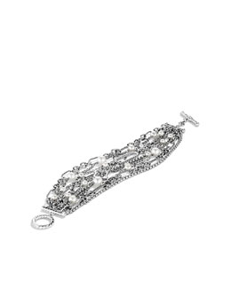 David Yurman Nine-Row Chain Bracelet with Pearls