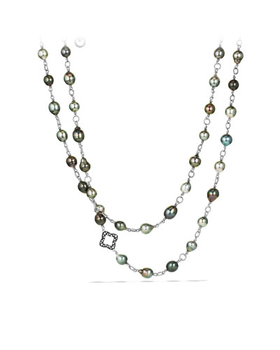 David Yurman Necklace with Pearls and Diamonds