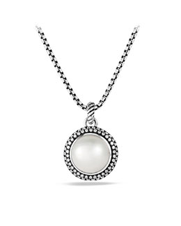David Yurman Cerise Pendant with Pearl and Diamonds