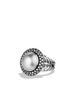 David Yurman Cerise Ring with Pearl and Diamonds