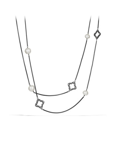 David Yurman Quatrefoil Necklace with South Sea Pearls and Diamonds