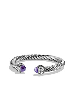 David Yurman Cable Classics Bracelet with Amethyst and Diamonds